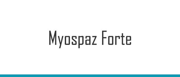 Myospaz Forte